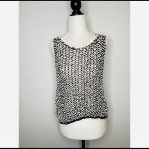 Eileen Fisher knit sweater tank Italian yarn Crop